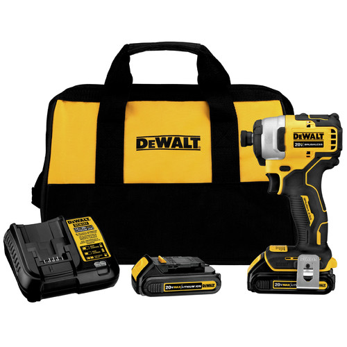 Dewalt DCF809C2 ATOMIC 20V MAX 1/4 in. Brushless Compact Impact Driver Kit with (2) Li-Ion Batt image number 0
