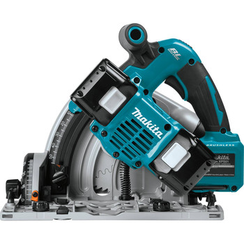Factory Reconditioned Makita XPS01PTJ-R 18V X2 5.0 Ah Cordless Lithium-Ion Brushless 6-1/2 in. Plunge Circular Saw Kit image number 4