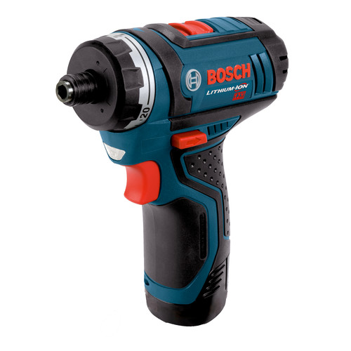 Bosch PS21-2A 12V Max Lithium-Ion 2-Speed 1/4 in. Cordless Pocket Driver Kit (2 Ah) image number 0