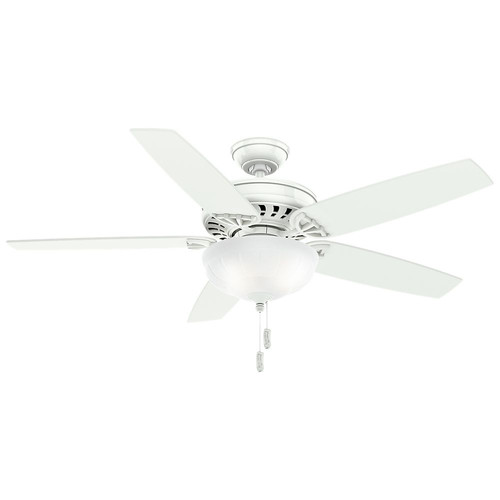 Casablanca 54022 54 in. Concentra Gallery Snow White Ceiling Fan with Light