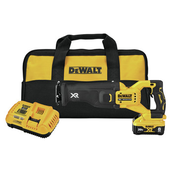 Dewalt DCS368W1 20V MAX XR Brushless Lithium-Ion Cordless Reciprocating saw with POWER DETECT Tool Technology Kit (8 Ah)