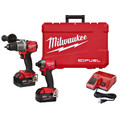 Milwaukee 2996-22 M18 FUEL 1/2 in. Cordless Hammer Drill / 1/4 in. Cordless Impact Driver with ONE-KEY Combo Kit (5 Ah) image number 0