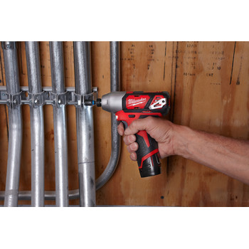 Milwaukee 2462-22 M12 12V Cordless Lithium-Ion 1/4 in. Hex Impact Driver Kit image number 5