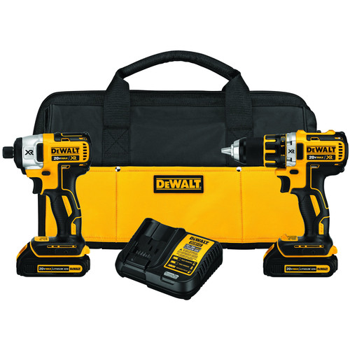 Dewalt DCK281C2 20V MAX 1.5 Ah Cordless Lithium-Ion Brushless Drill and Impact Driver Combo Kit