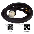 Generac 6389 50 Amp 25 ft. NEMA 1450 M/Locking CS6364 F Generator Power Cord