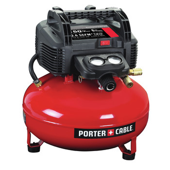 Factory Reconditioned Porter-Cable C2002R 0.8 HP 6 Gallon Oil-Free Pancake Air Compressor image number 1