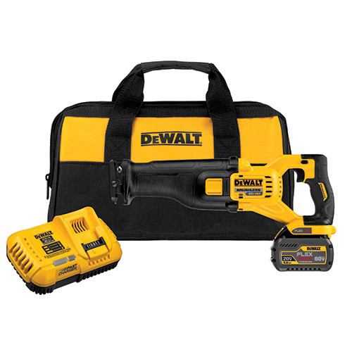 Dewalt DCS388T1 FlexVolt 60V MAX Cordless Lithium-Ion Reciprocating Saw Kit with Battery image number 0
