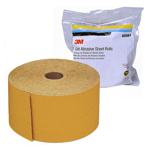 3M 2591 Stikit Gold Sheet Roll 2-3/4 in. x 45 yd. P320A