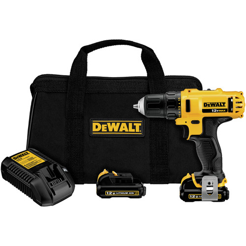 Factory Reconditioned Dewalt DCD710S2R 12V MAX Lithium-Ion 3/8 in. Cordless Drill Driver Kit with Keyless Chuck (1.5 Ah) image number 0