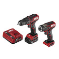 Skil CB742901 PWRCore 12 12V Brushless Lithium-Ion Cordless 1/2 in. Drill Driver / Hex 1/4 in. Impact Driver Combo Kit (2 Ah) image number 0