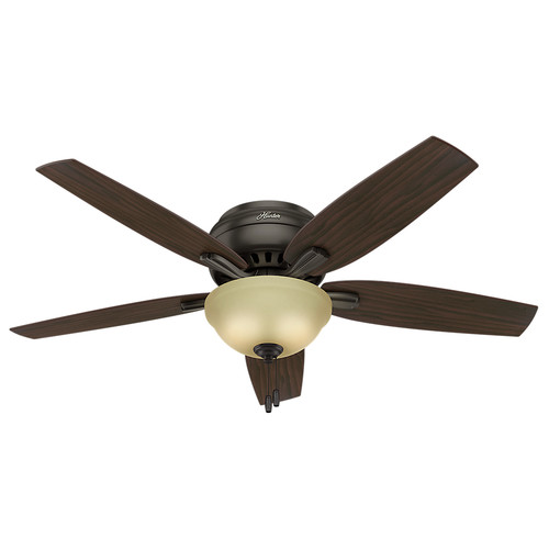 Hunter 53314 52 in. Newsome Premier Bronze Ceiling Fan with Light