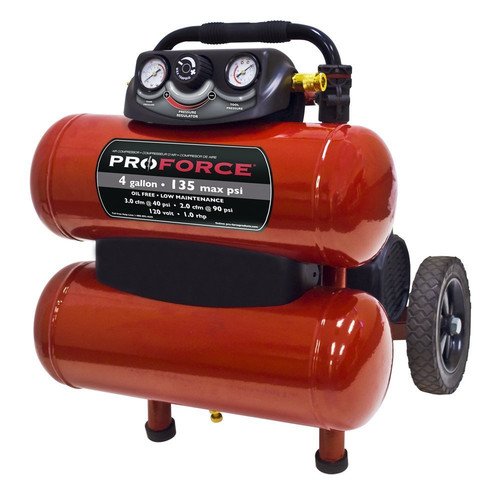 ProForce VKF1080418 4 Gallon Dolly Air Compressor with Telescoping Handle and Accessory Kit image number 0