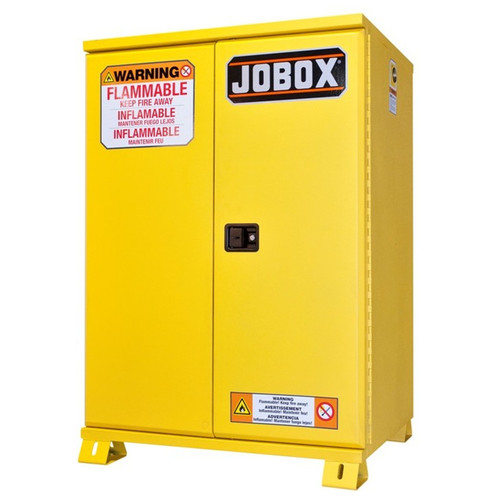 JOBOX 1-850990 12 Gallon Heavy-Duty Safety Cabinet (Yellow) image number 0