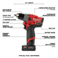 Milwaukee 2459-22 M12 FUEL Brushless Lithium-Ion Cordless 2-Tool Commercial Flat Tire Repair Kit (2 Ah / 4 Ah) image number 3