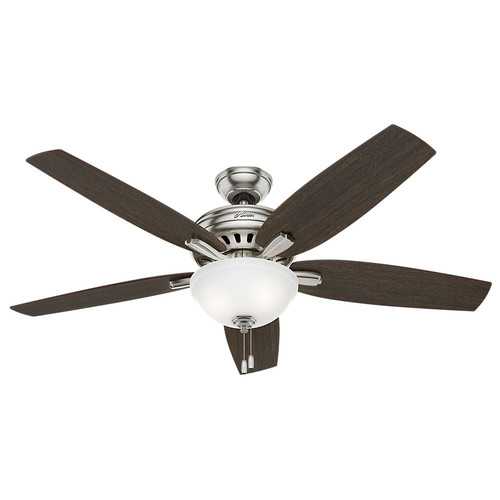 Hunter 54162 56 in. Newsome Brushed Nickel Ceiling Fan with Light image number 0