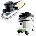 Festool RS 2 E Orbital Finish Sander with CT 36 E 9.5 Gallon HEPA Mobile Dust Extractor