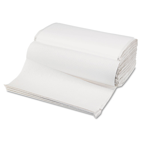Boardwalk B6212 Singlefold Paper Towels, White, 9 x 9 9/20, 250/Pack, 16 Packs/Carton image number 0
