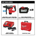 Milwaukee 2718-22HD M18 FUEL 1-3/4 in. SDS MAX Rotary Hammer with ONE KEY and (2) 12 Ah Batteries image number 14