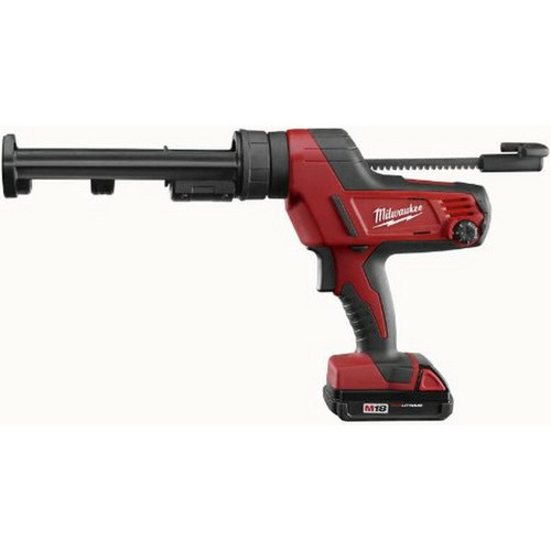 Factory Reconditioned Milwaukee 2641-81CT M18 18V Cordless Lithium-Ion Caulk Gun Kit with 10 oz. Carriage