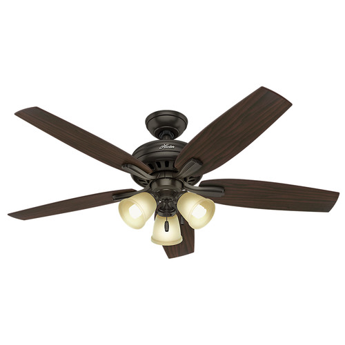 Hunter 53317 52 in. Newsome Premier Bronze Ceiling Fan with Light image number 0
