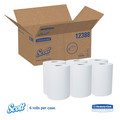 Scott 12388 Slimroll Hard Roll Towels, Absorbency Pockets, 8-in X 580ft, White, 6 Rolls/carton image number 0