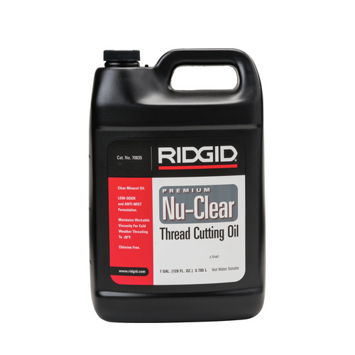 Ridgid 70835 1 Gallon Nu-Clear Thread Cutting Oil image number 0