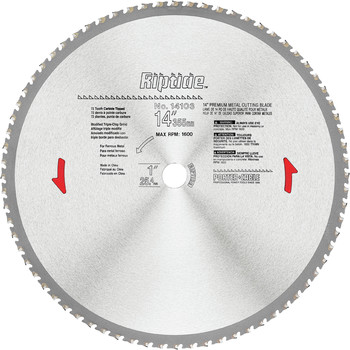 Porter-Cable 14103 14 in. 72 Tooth Riptide Dry Metal Cutting Circular Saw Blade image number 0