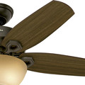 Hunter 52218 42 in. Builder Small Room New Bronze Ceiling Fan with Light image number 7