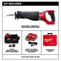 Milwaukee 2720-22 M18 FUEL Cordless Sawzall Reciprocating Saw with (2) REDLITHIUM Batteries image number 1