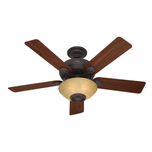 Hunter 59033 Westover 52 in. Traditional Bronze Dark Walnut Innovation Indoor Ceiling Fan with 3 Lights & Remote