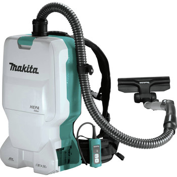 Makita XCV17Z 18V X2 LXT Lithium-Ion (36V) Brushless 1.6 Gallon HEPA Filter Backpack Cordless Dry Vacuum (Tool Only)