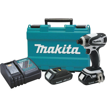 Factory Reconditioned Makita XDT04CW-R 18V 1.5 Ah Cordless Lithium-Ion 1/4 in. Hex Compact Impact Driver Kit image number 0