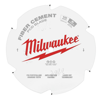 Milwaukee 48-40-7010 10 in. PCD/Fiber Cement Circular Saw Blade image number 1