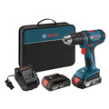 Factory Reconditioned Bosch DDB181-02-RT 18V 1.5 Ah Cordless Lithium-Ion 1/2 in. Compact Tough Drill Driver Kit