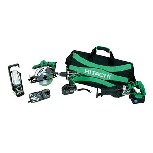 Hitachi KC18DVF 18V Cordless 4-Tool Combo Kit
