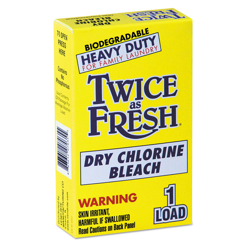 Twice as Fresh VEN 2979646 Heavy Duty Coin-Vend Powdered Chlorine Bleach, 1 Load, 100/carton image number 0