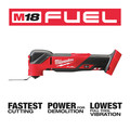 Milwaukee 2836-20 M18 FUEL Brushless Lithium-Ion Cordless Oscillating Multi-Tool (Tool Only) image number 3