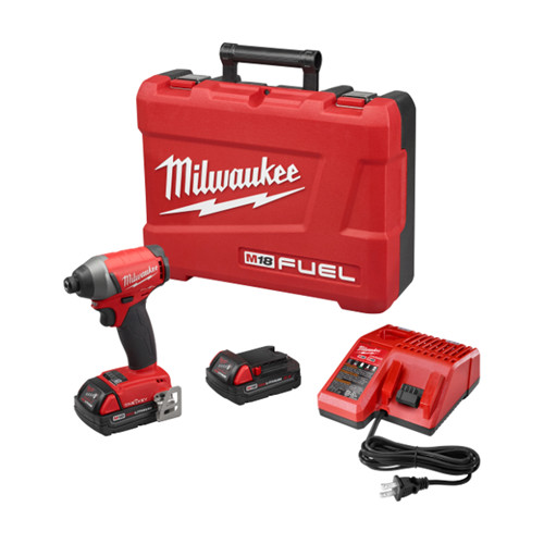 Factory Reconditioned Milwaukee 2757-82CT M18 FUEL 2.0 Ah Cordless Lithium-Ion 1/4 in. Hex Impact Driver Kit with ONE-KEY Connectivity image number 0