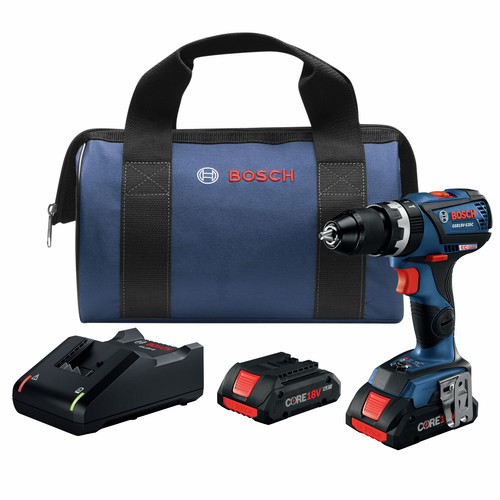 Factory Reconditioned Bosch GSB18V-535CB25-RT 18V EC Compact Tough Brushless Lithium-Ion 1/2 in. Cordless Connected-Ready Hammer Drill Kit (4 Ah) image number 0
