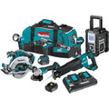 Makita XT705PT 18V LXT 5.0 Ah Lithium-Ion Brushless Cordless 7-Piece Combo Kit