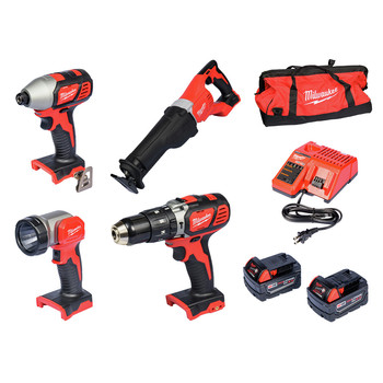 Milwaukee 2696-24 M18 Lithium-Ion 4-Tool Combo Kit