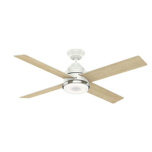 Casablanca 59413 54 in. Daphne Ceiling Fan with Light and Integrated Wall Control (Fresh White) image number 0