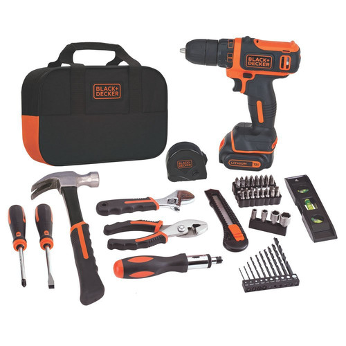 Black & Decker BDCDD12PK 12V MAX Lithium-Ion 56-Piece Project Kit