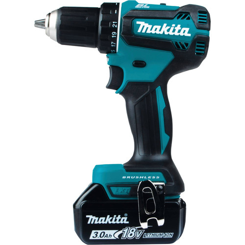 Makita XFD131 18V LXT Lithium-Ion Brushless Compact 1/2 in. Cordless Drill Driver Kit (3 Ah) image number 1
