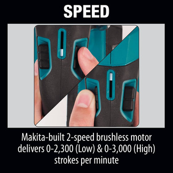 Makita XRJ05Z LXT 18V Cordless Lithium-Ion Brushless Reciprocating Saw (Tool Only) image number 18