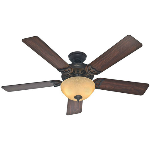 Hunter 53172 52 in. Sonora New Bronze Ceiling Fan with Light