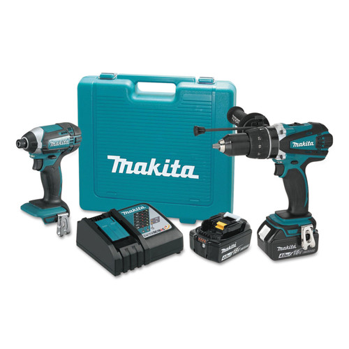 makita xt263m 18v lxt 4ah lithium ion cordless 2 pc combo kit. Black Bedroom Furniture Sets. Home Design Ideas