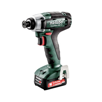 Metabo 601114520 PowerMaxx SSD 12 12V 2.0 Ah 1/4 in. Hex Compact Impact Driver Kit image number 0