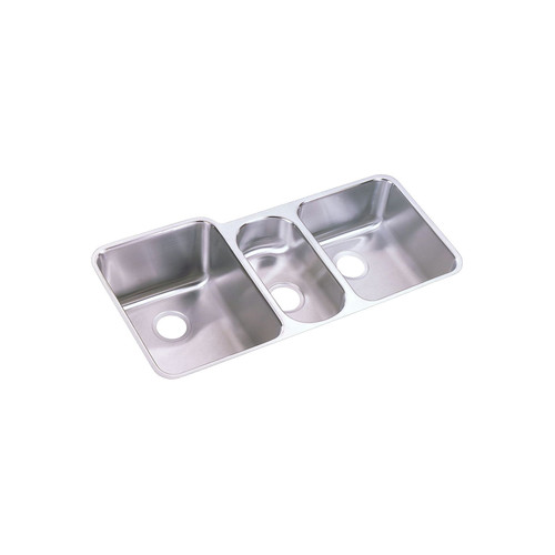 Elkay ELUH4020 Lustertone Undermount 40 in. x 20-1/2 in. Triple Bowl Sink (Stainless Steel) image number 0