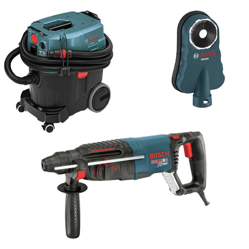 Bosch 11255VSR-OSHA 1 in. SDS-plus D-Handle Bulldog Xtreme Rotary Hammer with Dust Collection System image number 0